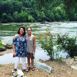 House Warming with Mom. I adore my little apartment right on the Chattahoochee River!